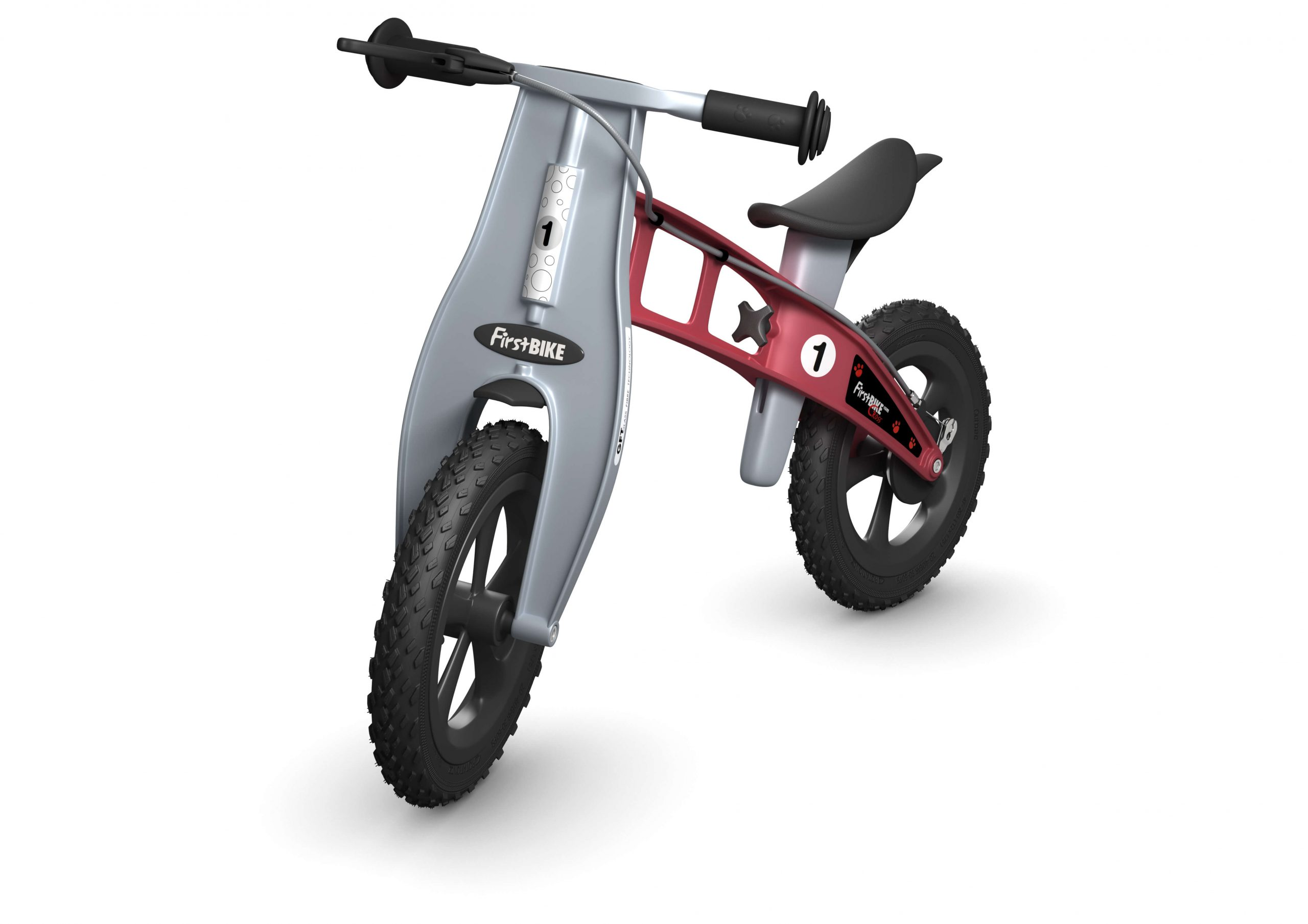 FirstBIKE Balance Bike Cross Red1