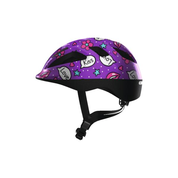 FirstBIKE helmet Smooty Purple Kisses2